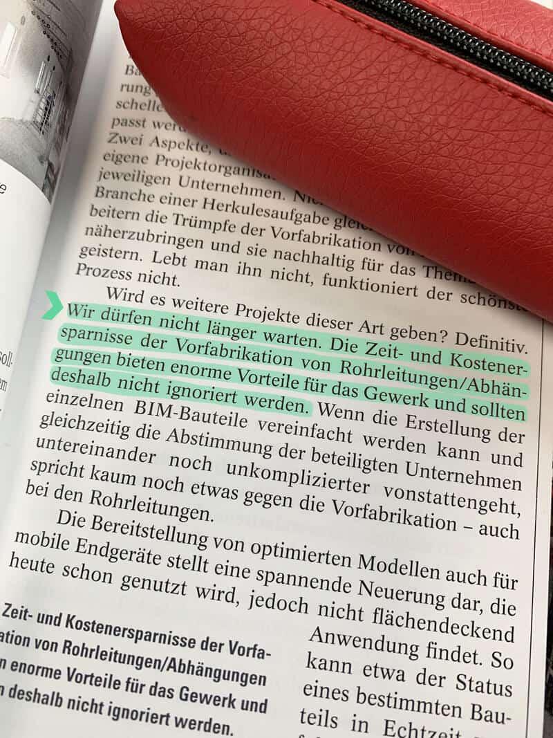 Text Highlight Ernst und Sohn Artikel